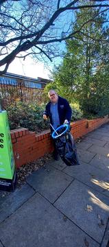 Paul Daley litter picking