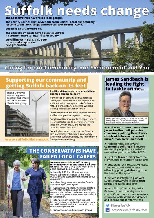 Suffolk Lib Dems 2021 Campaign (Su)