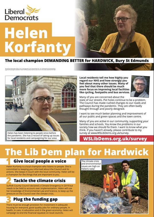 Helen Korfanty Election 2021 (West Suffolk Lib Dems)