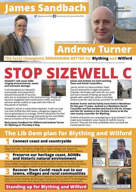 Andrew Turner & James Sandbach Election 2021 (East Suffolk Lib Dems)