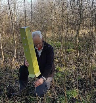 David Appleton with non plastic tree guard